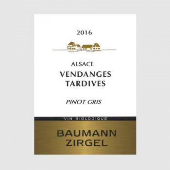 """Pinot Gris """"Vendanges Tardives"""" 2016 Médaille d'Or Vignerons Indépendants"""