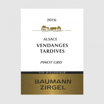 "Pinot Gris ""Vendanges Tardives"" 2016"